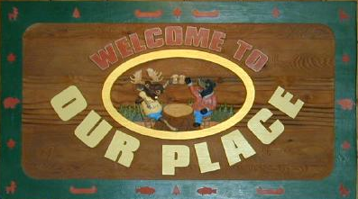 Our place sign